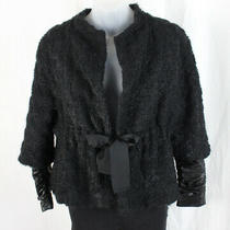 a.l.c. Women's Black Textured 3/4 Sleeve Jacket Size 4 Photo
