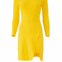 a.l.c. Women's Dress Yellow Size Medium M Sheath Stretch-Knit Ribbed 395- 777 Photo