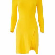 a.l.c. Women's Dress Yellow Size Small S Sheath Stretch-Knit Ribbed 395- 369 Photo