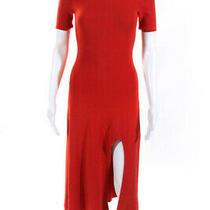 a.l.c. Womens Turtleneck Knit Caplan Dress Orange Size Xs 12406151 Photo
