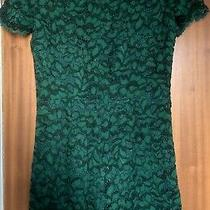 A Ladies Green Lace Jumpsuit by Zara Women Size Medium With Defects Photo