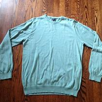 A Men's J Crew Light Aqua Crewneck Sweater Photo
