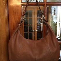 a.n.a. a New Approach Leather Pebbled Shoulder Hobo Bag W/braided Strap Lovely Photo