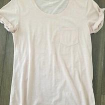 a.n.a. a New Approach Tee T-Shirt Scoop Neck Short Sleeve Blush Pink Small S Photo