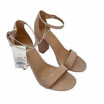 A New Day Ad149 Ema Blush Block Heel Ankle Strap Sandals Size 7 Nib Photo