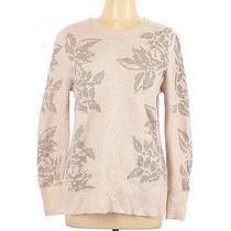 A New Day Blush Pink Metallic Floral Pattern Knitted Sweater Size Xl Photo