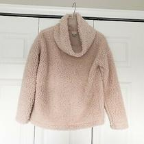A New Day Target Cozy Sherpa Top Cowl Neck Blush Pink Size Small Photo