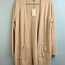 A New Day Womens Blush Mochaccino Open Front Cardigan Sweater Ls Size Large New Photo