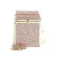A New Day Womens Box Minaudiere Clutch Crossbody Bag in Rose Gold Photo