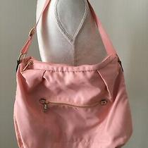 A New Day Womens Satin Nylon Zip Purse Blush Pink With Gold Hardware. Photo