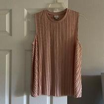 A New Day Womens Swing Tank Top Crew Neck Crinkle Blush Pink Size S Photo