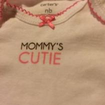 A One Piece Diaper Shirt by Carters Size Newborn Photo