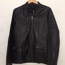 a.p.c. Black Leather Motorcycle Jacket Photo