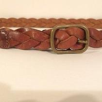 a.p.c. Brown Leather Belt Braided  Photo