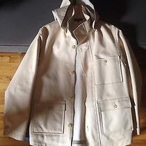 a.p.c. Cotton Taped Seam Hooded Rain Parka Jacket Small Photo