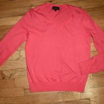 a.p.c. Paris Apc Coral Pink v Neck 100% Cotton Sweater - Euc - Xs Photo