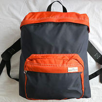 a.p.c. Paris Navy & Orange Nylon Backpack Bag Apc Back Pack Photo