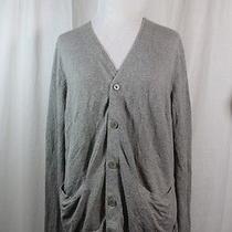 a.p.c. Rue Madame Paris Shale Linen and Cotton Cardigan Sweater M Photo
