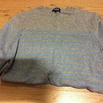 a.p.c. Size M Sweater Top Striped Grey Light Blue Apc Photo