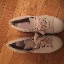 a.p.c White All Leather Tennis Sneakers Size 36 Photo