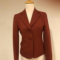 a.p.c Women's Burgundy Light Weight Wool Blazer Size S 36 Photo