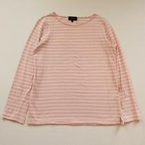 a.p.c. Womens Casual Long Sleeve Pink Striped Tee Top Apc Size M Photo