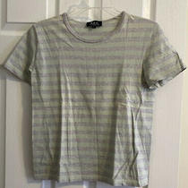 a.p.c. Womens S Casual Short Sleeve Tee Shirt Top Striped Cotton Photo