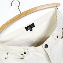a.p.c Womens Velvet Pants Beige Size 27 Photo