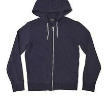 a.p.c. Zip Hoodie Sweatshirt Navy Blue Women's S Photo