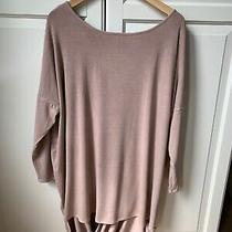 A Postcard From Brighton Pink Open Back Draped Jersey Top Size 1 Photo