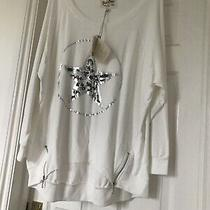 A Postcard From Brighton Size 2 Slouch Top Daisy White  14-16-18-20 Oversized Photo