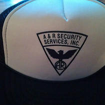 A & R Security Services Inc. Blue Island Il Vintage Baseball/trucker Cap/hat  Photo
