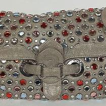 A Rare and Unique Sonia Rykiel Leather and Jewled Bag/clutch/purse. Photo