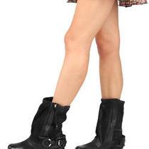 a.s.98 Smyth Nero Black Biker Style Italian Leather Boots Photo