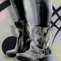 a.s.98 Smyth Smoke Gray Italian Leather Boots Photo