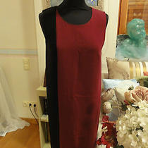 A Very Beautiful  Dkny Dress in Black and Burgundy Red Color Photo