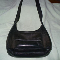 A Vintage Fossil Green Leather Handbag Photo