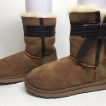 A Womens Ugg Australia Winter Suede Brown Boots Size 6 Photo