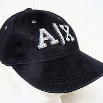 A/x - Armani Exchange - Black Embroidered Logo - Baseball Cap Hat Photo