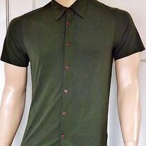 A/x Armani Exchange Men's Green S/s Button-Front Casual Shirt  Sizem Photo