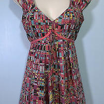 A/x Armani Exchange Sleeveless Tie-Back Top in Seriously Bright Colors Sz Xs Photo