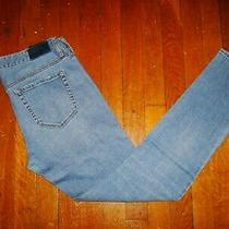 A/x Armani Exchange Women's Distressed Moto Legging Jeans/ Size 28/ Blue Wash Photo