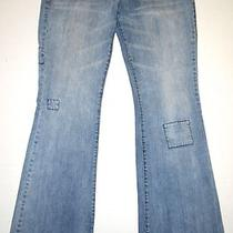 A/x Armani Exchange Womens Size 8 Jeans Low Rise Flare Ax Jewels Blue M Wash Photo