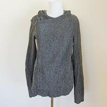 A/x Armani Exchange Womens Size Xs Gray Moto Side Zip Hooded Sweater Jacket Photo