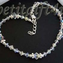 A01 Swarovski Crystal Bridal Ankle Bracelet Anklet Photo