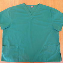 A012 Tops & blouses.dickies Blue-Green Scrub Top Photo
