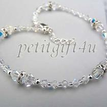 A06 Swarovski Crystal Bridal Ankle Bracelet Anklet  Photo