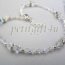 A06 Swarovski Crystal Bridal Ankle Bracelet Anklet  Photo