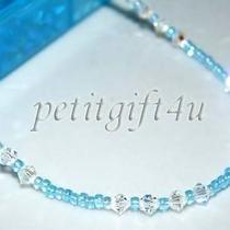A08 Swarovski Crystal Bridal Ankle Bracelet Anklet Photo