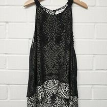 A1. Authentic Parker Women's Silk Cream & Black Camisole Vest Top Size Xs Photo
